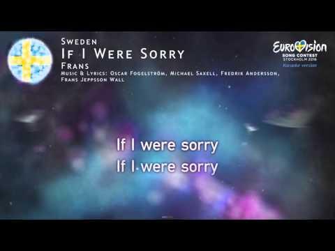 Frans - If I Were Sorry (Sweden) - [Karaoke version]