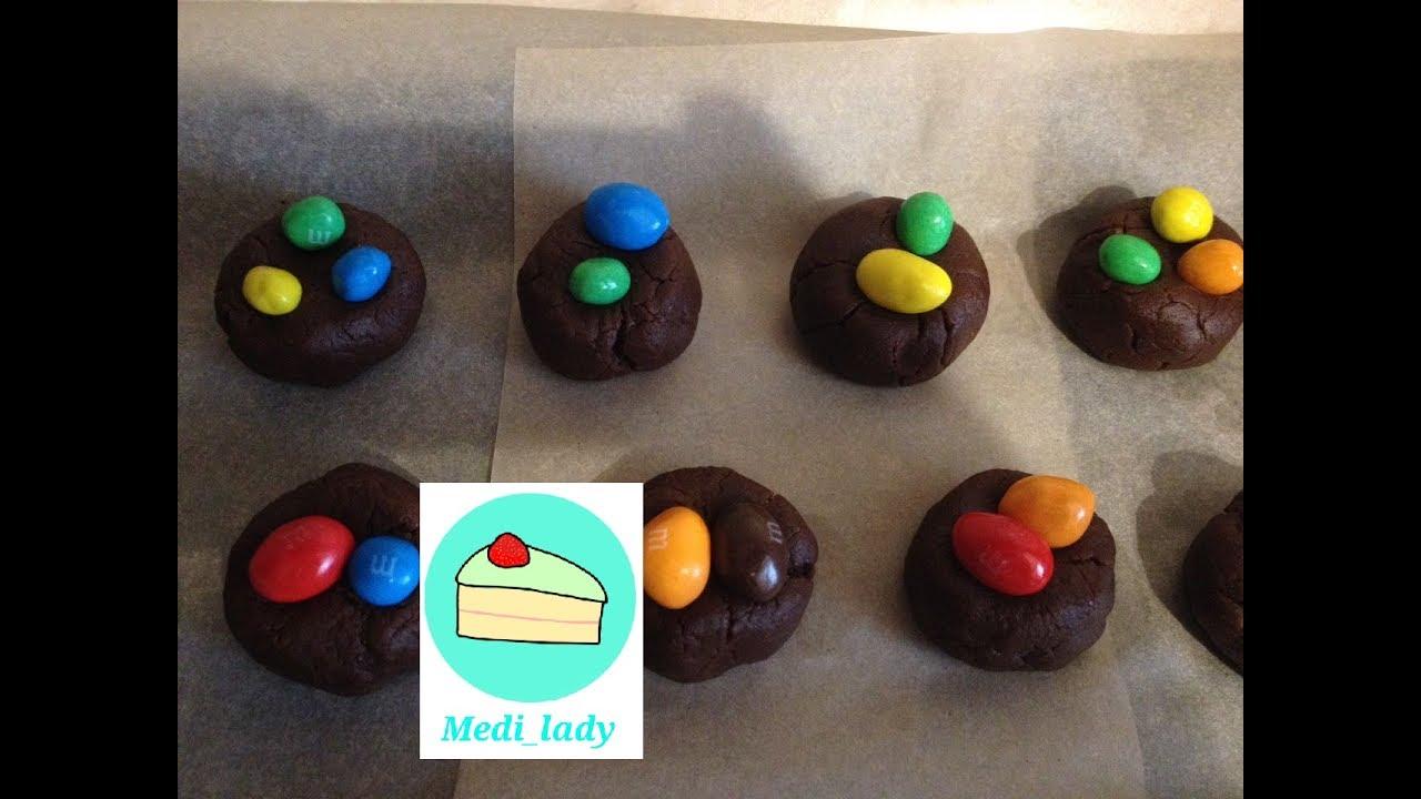 Мягкое шоколадное печенье с M&M's рецепт – выпечка и ...