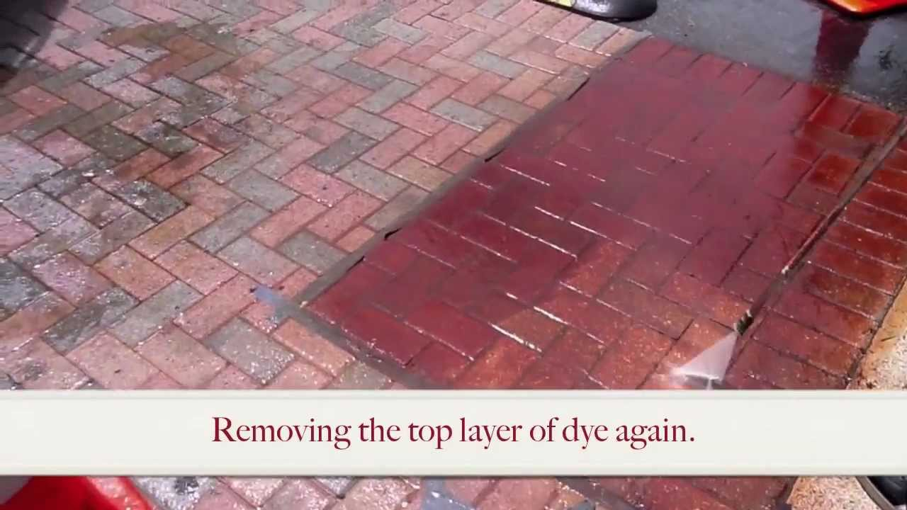 Enhance Brick Pavers W A Concrete Grinder Amp Concrete Dye