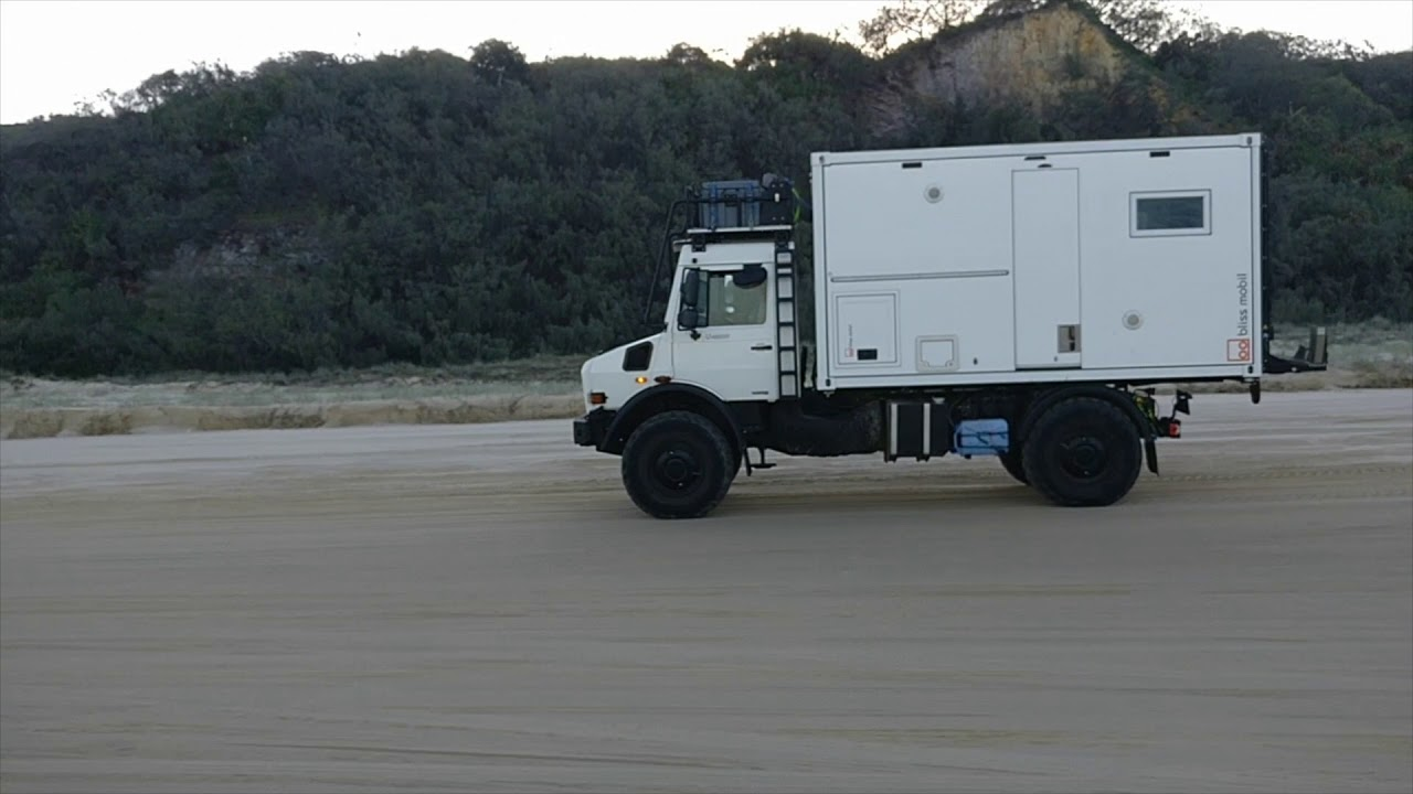 Bliss Mobil Australia's demo Unimog U4000 on Fraser Island