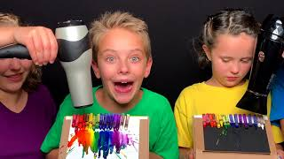 Rainbow Crayon Melting Art with Sign Post Kids!