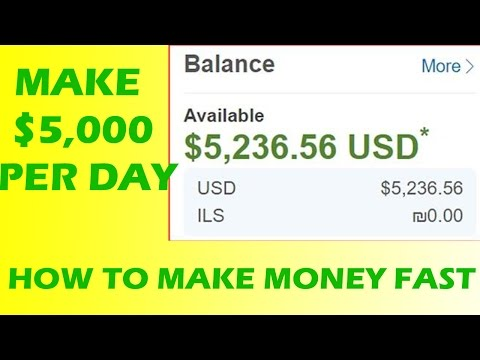 How To Make Money Online Fast 2016 & 2017 - Eearn Quickly $2,500 Per Day
