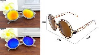 Female Male Vintage Round Coating Sun glasses | Best Sun glasses 2019