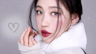 [Eng]🌬촉촉 겨울데일리 메이크업💎+페이스오일 꿀팁🍯 l 이사배(RISABAE Makeup)