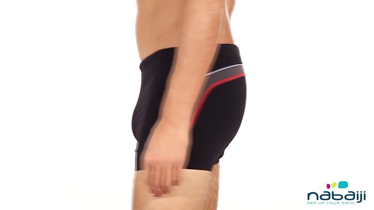 454283c04 Sunga de natação Boxer B-Fit Nabaiji - Exclusividade Decathlon - YouTube