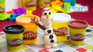 Frozen Play Doh - How to Make Olaf From Frozen - Olaf Playdoh