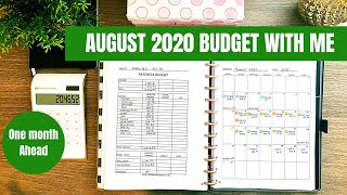 August 2020 Monthly Budget With Me