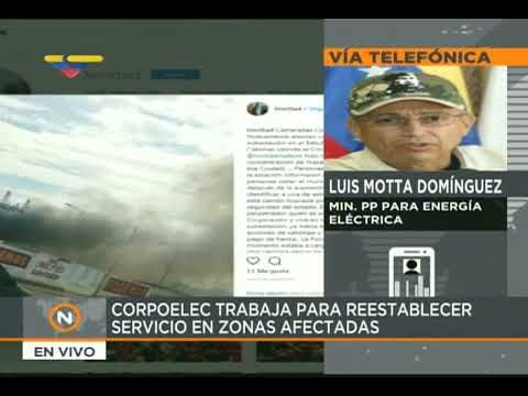 Motta Domínguez: Identifican a uno de los responsables de sabotaje a subestación de Cabimas