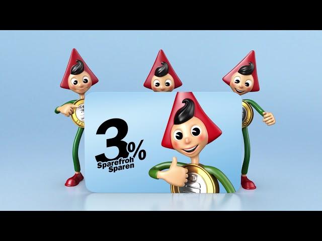 3% Sparefroh Sparen