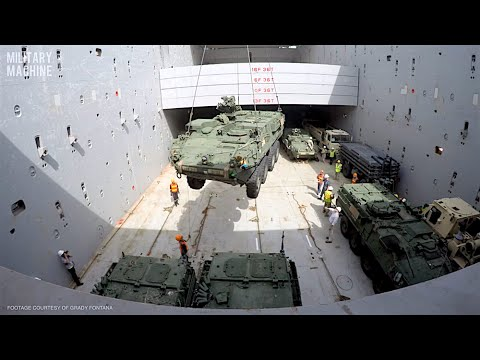 The Ocean Glory Transports Military Equipment - Time-Lapse