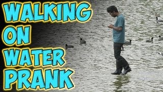 Repeat youtube video Walking on Water Prank