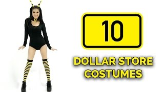 10 Last-Minute DOLLAR STORE Halloween Costume Ideas 🎃