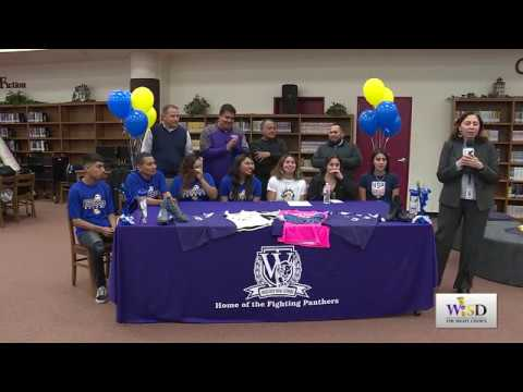 Weslaco High School College Signing for Hariklia Sotelo & Marisol Muñoz to Jarvis Christian College