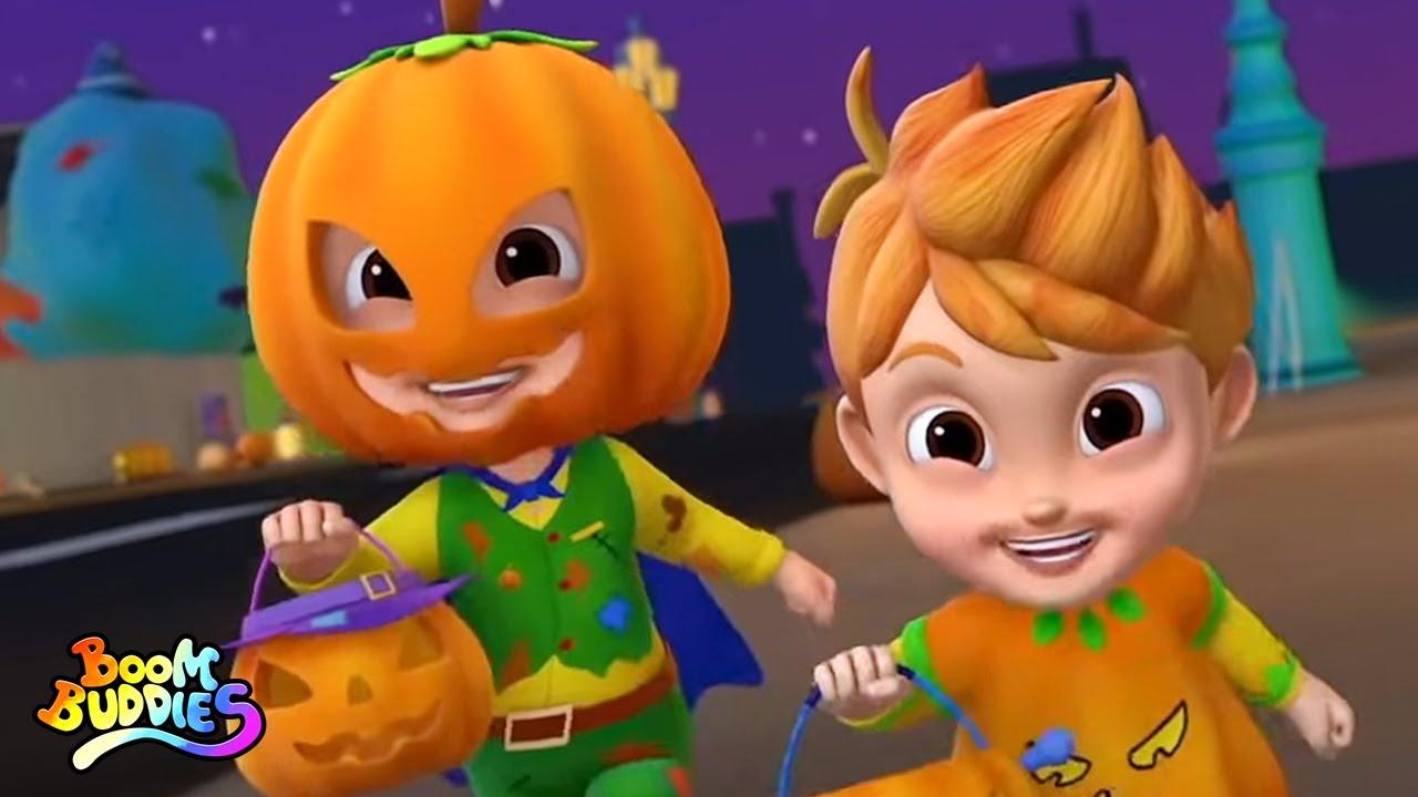 Cinco pequeñas calabazas | Canción de halloween | Boom Buddies Español | Rimas para niños