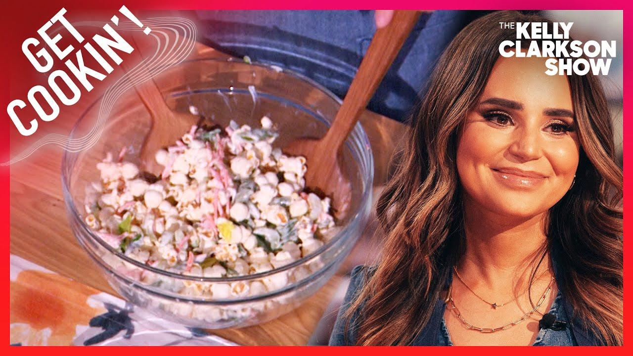 Kelly & Rosanna Pansino Try Viral Popcorn Salad