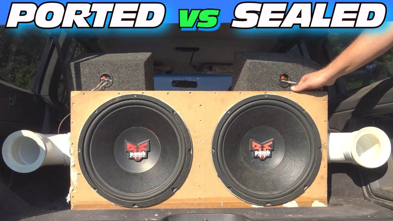 hight resolution of ported vs sealed subwoofer box w adjustable port tuning clean car audio install loud bass youtube