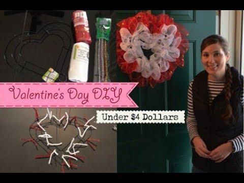 Valentine's Day Wreath / DOLLAR TREE DIY