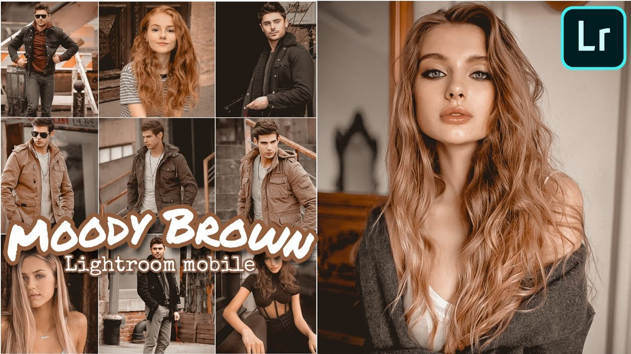 How to easily edit Moody Brown tone | lightroom mobile presets free dng | lightroom tutorial 2020