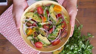 Ensalada de Aguacate - Inspirada en el Guacamole - Receta - Mi Cocina Rápida