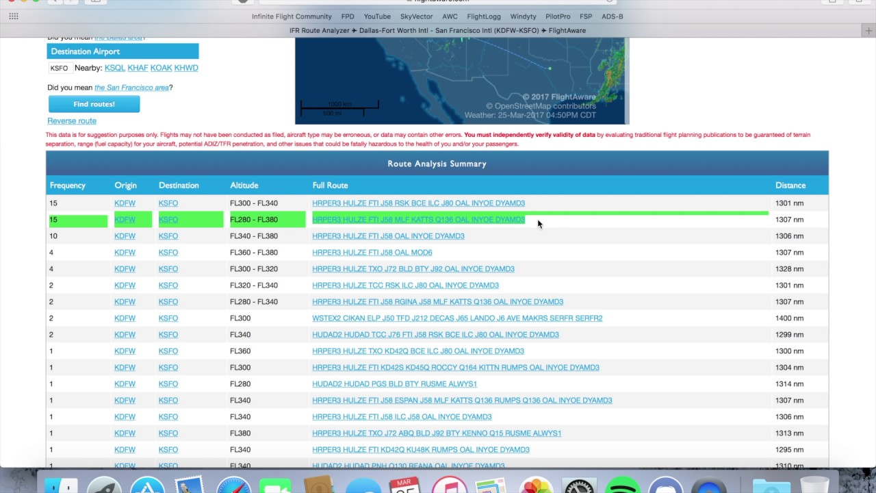 Finding Flight Plans on FlightAware