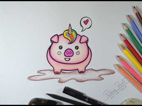 Desenhando Porquinho Unicornio Kawaii Kawaiiart Youtube