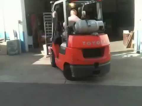 Operating A Toyota Forklift .