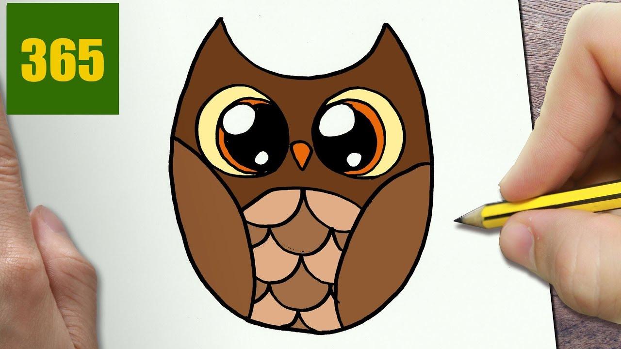 Come disegnare gufo kawaii passo dopo passo disegni - Come disegnare un cartone animato di gufo ...