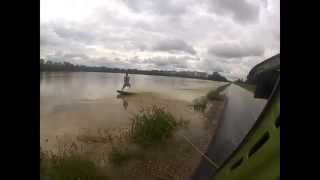 Flood wakeboarding in Slovenia