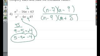 simplifying rational expressions with excluded values