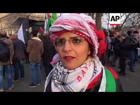 Protest in Paris against Trump Jerusalem announcement