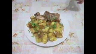 Обед или ужин на скорую руку - курица с гарниром