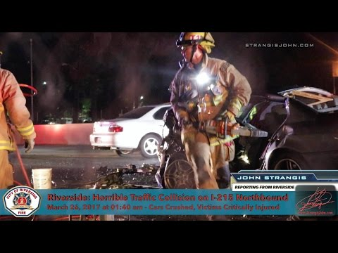 Critical Injuries in Traffic Collision on I-215 in Riverside