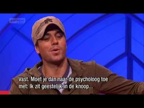 Enrique Iglesias - interview @ Jensen! (Dutch talk-show)