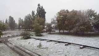 Снег в Октябре (Чугуев харьковская область)(, 2013-10-15T10:36:26.000Z)