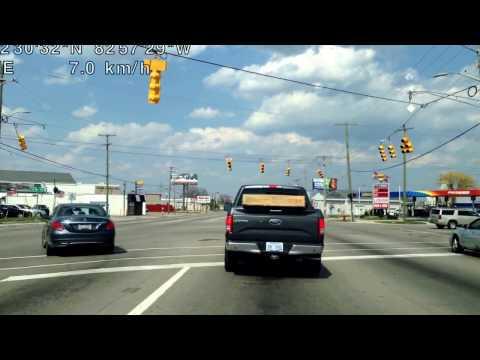 Driving from Warren, Michigan to Shelby Township, Michigan