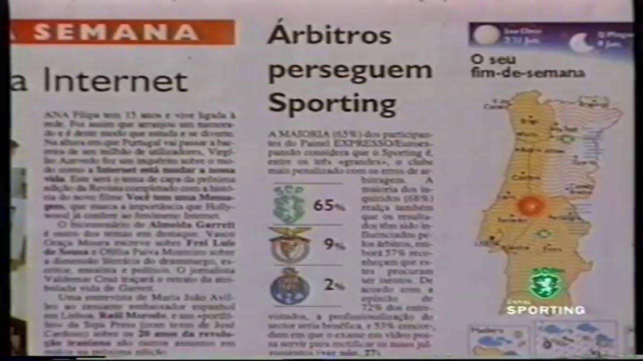 Estudo de 04/02/1999 demonstra que o Sporting é o mais penalizado pelas arbitragens