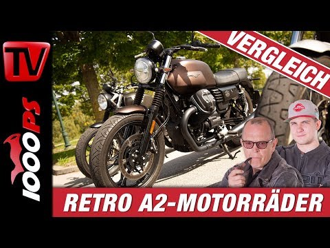 48 PS Retrobikes im Test! Royal Enfield Interceptor - Moto Guzzi V7 Night Pack - Triumph Street Twin