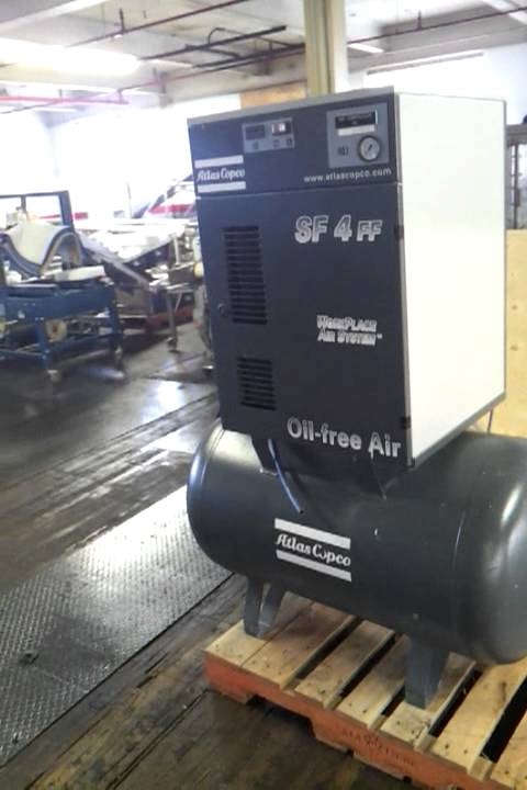 Air Dryer For Air Compressor >> Atlas Copco SF 4 FF scroll compressor SOLD - YouTube