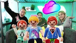FAMILIE VOGEL BESUCHT KAAN, NINA, KATHI IN DER WOLKE! Playmobil Real Life Vlog - Kinderfilm