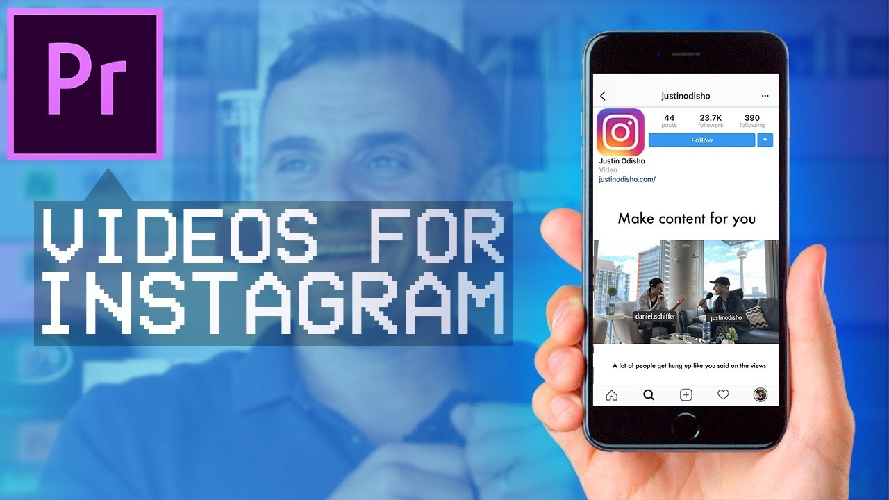 How to create GaryVee style Instagram Videos in Adobe Premiere Pro CC!  (Text Captions, Square Size)