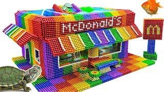 DIY - Build Amazing McDonald Aquarium With Magnetic Balls (Satisfying) - Magnet Balls
