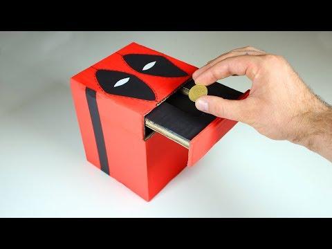 DIY COIN BANK BOX - DEADPOOL