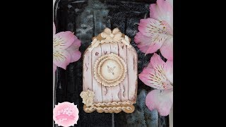 Vintage Birdhouse Cookie with Wood Effect 🕊️🌹