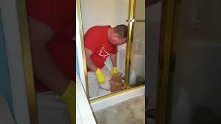 DAD CLEANS OUT SHOWER DRAIN FAIL!! *HILARIOUS*