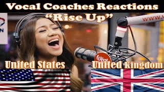 Download lagu Rise Up Vocal Coaches from US UK Best Reactions to Morissette Amon Mash Up