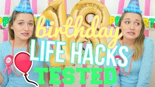 Testing DIY Birthday Party Life Hacks!! | Testing DIY Pinterest Life Hacks!