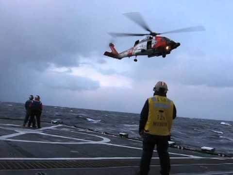 Helicopter Lands on Cutter USCGC Munro