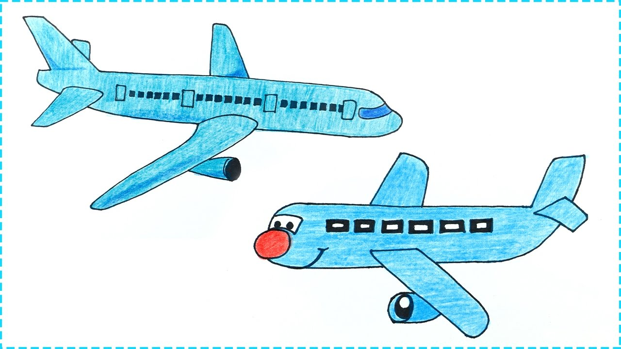 Aeroplane drawing how to draw aeroplane step by step for kids