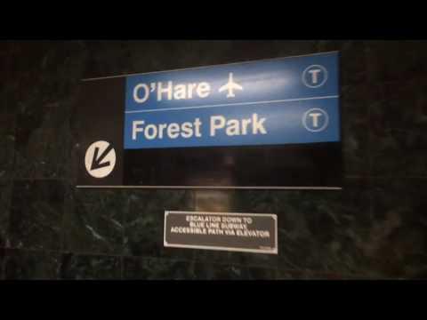 CTA Clark/Lake Transfer (Elevated to Subway)