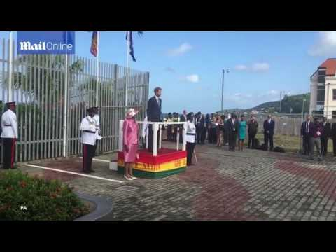 Harry arrives in Grenada tour Prince was treated to a welcome parade from locals in Grenada The roya